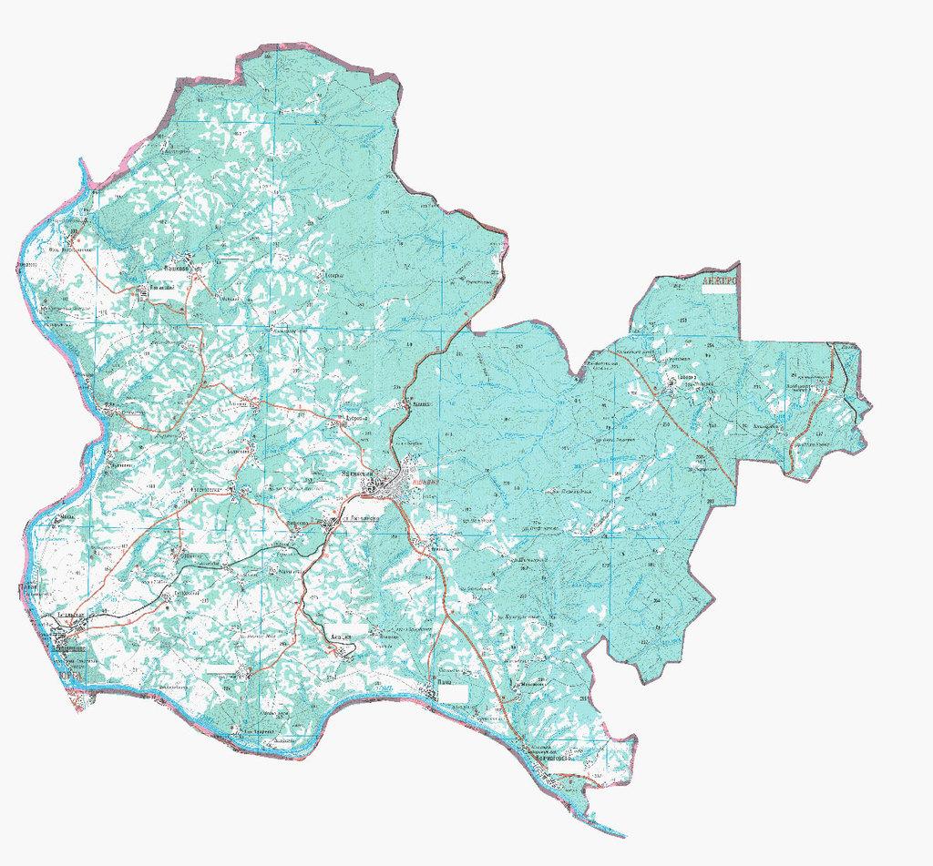 Различные карты района, схемы движения общественного транспорта и другое.